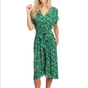 Max Studio Floral Ruffle Sleeve Dress